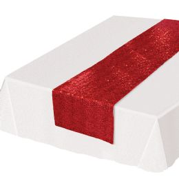 12 Wholesale Sequined Table Runner Red