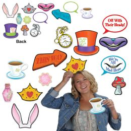12 Wholesale Alice In Wonderland Photo Fun Signs Prtd 2 Sides W/different Designs
