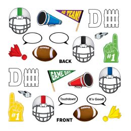 12 Wholesale Football Photo Fun Signs Prtd 2 Sides W/different Designs