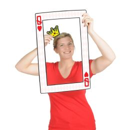 12 Wholesale Playing Card Photo Fun Frame Prtd 2 Sides W/different Designs; 3 Hand Held Props Included