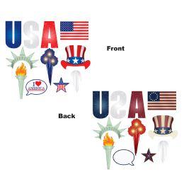 12 Wholesale Patriotic Photo Fun Signs Prtd 2 Sides W/different Designs