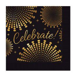12 Wholesale Celebrate! Beverage Napkins (2-Ply)