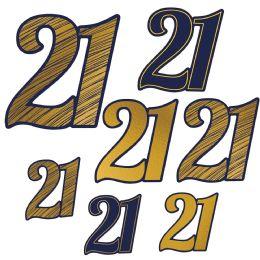 12 Units of 21 Foil Cutouts Foil 2 Sides/prtd 1 Side; 3-5 , 3-8 , 1-11 - Hanging Decorations & Cut Out