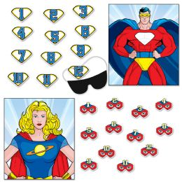 24 Wholesale Hero Party Games Blindfold Mask W/12 Emblems & 12 Hero Masks Included