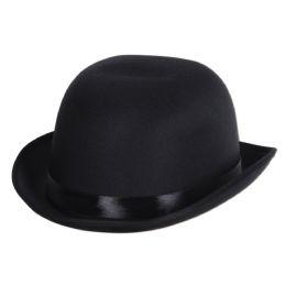 6 Wholesale Satin Sleek Derby Black; One Size Fits Most