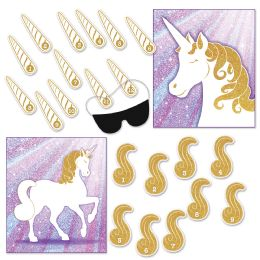 24 Wholesale Unicorn Party Games Blindfold Mask W/12 Horns & 9 Tails Included