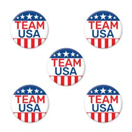 12 Wholesale Team Usa Party Buttons