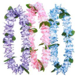 6 Wholesale Island Floral Leis Asstd Colors