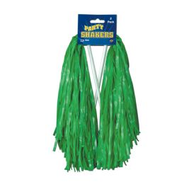24 Wholesale Pkgd Poly Shakers - 512 Strand Green