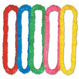 720 Wholesale SofT-Twist Poly Leis Asstd Colors
