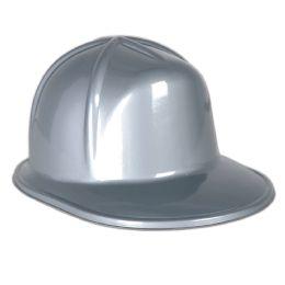 48 Wholesale Silver Plastic Construction Helmet One Size Fits Most