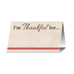 12 Wholesale I'm Thankful For... Place Cards