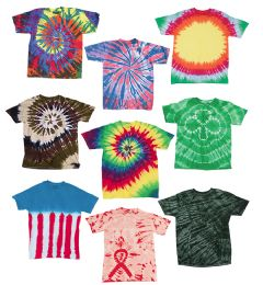 36 Units of Adult TiE-Dye T-Shirts In Assorted Colors Size Medium - Unisex Apparel
