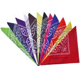 60000 Units of Assorted Color And Prints Cotton Bandannas - Bandanas