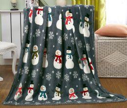 12 Units of Assorted Christmas Prints Fleece Blankets Size 50 X 60 - Fleece & Sherpa Blankets