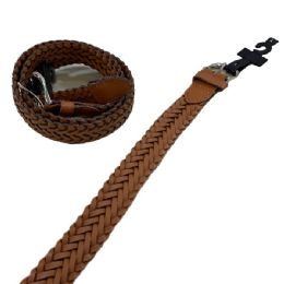 24 Units of Belt--Braided Brown Large Only - Belts