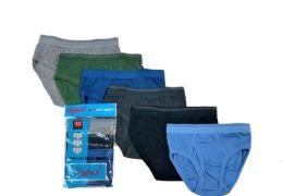 36 Units of Boy's Cotton Color Briefs Size L - Boys Underwear