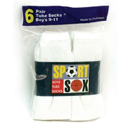 30 Units of Boy's Tube Socks Size 6-81/2 - Boys Ankle Sock