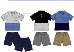 36 Units of Boys Twill Short Sets 3 Colors Size 4-7 - Boys Shorts