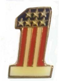 96 Units of Brass Hat Pin 1 Us Flag - Hat Pins & Jacket Pins