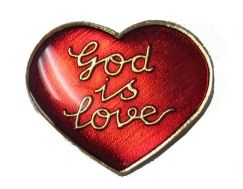 """96 Units of Brass Hat Pin, """"god Is Love - Hat Pins & Jacket Pins"""