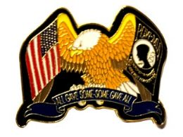 """96 Wholesale Brass Hat Pin, U.s. Eagle/poW-Mia - """"all Gave Some, Some Gave All"""