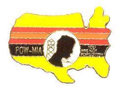 "96 Wholesale Brass Lapel Pin, ""poW-Mia - You Are Not Forgotten"""