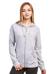 24 Units of COTTONBELL LADIES THIN ZIP-UP HOODIE JACKET SIZE M - Womens Sweaters & Cardigan