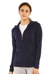 24 Units of COTTONBELL LADIES THIN ZIP-UP HOODIE JACKET SIZE S - Womens Sweaters & Cardigan