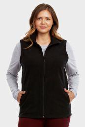 12 Units of ET TU LADIES POLAR FLEECE VEST PLUS SIZE 3XL - Women's Winter Jackets
