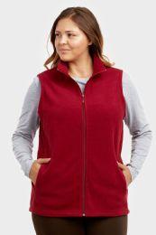 12 Units of ET TU LADIES POLAR FLEECE VEST PLUS SIZE 2XL - Women's Winter Jackets