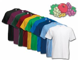 72 Units of Fruit Of The Loom Mens 100% Cotton Assorted T Shirts, Assorted Colors Size xl - Mens T-Shirts