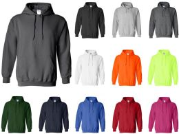 24 Units of Gildan Adult Hoodies Assorted Color And Sizes - Mens Clothes for The Homeless and Charity