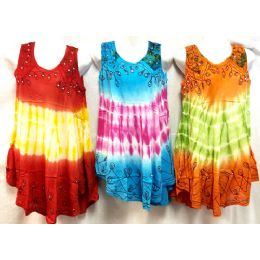 12 of Girls Rayon Tie Dye Dress With Sequins