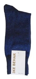 Ike Behar Men's Designer Glitter Dress Socks, Tuxedo Socks , Fits Shoe Sizes 7-12 Black Navy Sparkle - Mens Dress Sock