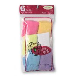 36 Units of Kid's Socks Assorted Sizes Of 4-6 - Girls Crew Socks