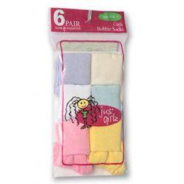 36 Units of Kid's Socks Assorted Sizes Of 6-81/2 - Girls Crew Socks