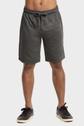 12 Units of Knocker Mens Lightweight Terry Shorts In Charcoal Grey Size Medium - Mens Shorts