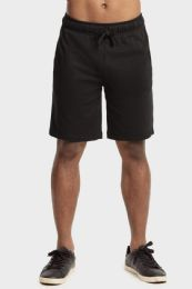 12 Units of Knocker Mens Lightweight Terry Shorts In Black Size Large - Mens Shorts