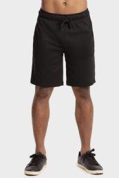 12 Units of Knocker Mens Lightweight Terry Shorts In Black Size Medium - Mens Shorts