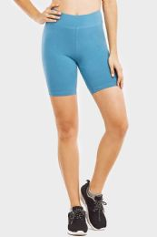 """48 Units of Ladies Cotton 15"""" OuT-Seam Shorts With Wide Waistband In Size Medium - Womens Active Wear"""