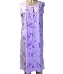 36 Units of Ladys Short Sleeve House Dress In Size Large - Women's Pajamas and Sleepwear