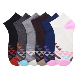 432 Units of MAMIA SPANDEX SOCKS (CREST) 2-3 - Womens Ankle Sock