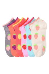 432 Units of MAMIA SPANDEX SOCKS (SCBERRY) 9-11 - Girls Ankle Sock