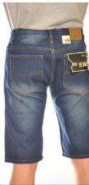 12 Units of Fashion Denim Shorts Medium Blue Color In Assorted Sizes - Mens Shorts