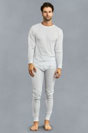 12 Units of Men's Thermal Top And Bottom Set Color White Size Medium - Mens Thermals