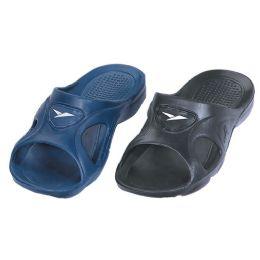 36 Bulk Men's Sandals In Black And Blue