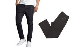 24 Units of Men's SliM-Fit Cotton Stretch Chino Pants Solid Black - Mens Pants