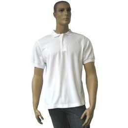 12 Units of Men's White Polo Shirt Size: 2xl Only - Mens Polo Shirts
