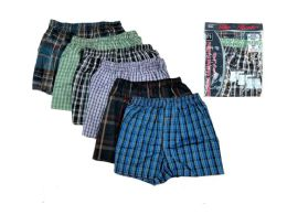 36 Units of Men Woven Boxer Shorts With Button Size L - Mens Underwear